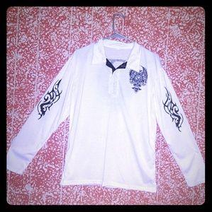 Long sleeve tribal embroidered shirt